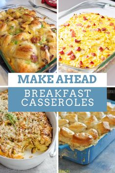 Amazing Make Ahead Breakfast Casseroles You'll Wish You'd Tried Sooner Make Ahead Breakfast Casseroles {The recipes you need to feed a crowd!}Make Ahead Breakfast Casseroles {The recipes you need to feed a crowd! Breakfast For A Crowd, Food For A Crowd, Breakfast Dishes, Healthy Breakfast Recipes, Make Ahead Breakfast Casseroles, Brunch Ideas For A Crowd, Make Ahead Brunch Recipes, Breakfast Casserole With Bread, Christmas Breakfast Casserole