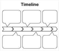 Blank Timeline Template for Kids