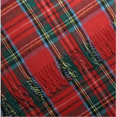 Christmas tartan I still have the throw my dad got it as a safety prize from Monsanto that was called Chemstrand at the time.