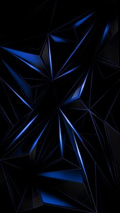 Blue Geometric Abstract Wallpaper