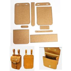 Online Shop Leather Tools Men and Women Casual Backpack Kraft Paper Stencil DIY Handmade Leather Craft Design Template Leather Diy Crafts, Leather Gifts, Leather Projects, Leather Craft, Leather Wallet Pattern, Sewing Leather, In China, Leather Accessories, Leather Tooling