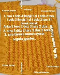 Örecegim inşallah - Her Crochet 6 Month Old Baby, Spa Deals, Baby Vest, Knit Vest, Web Magazine, Travel Activities, Baby Knitting Patterns, Top Pattern, Compost