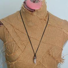 Spirit quartz necklace raw crystal jewellery electroformed