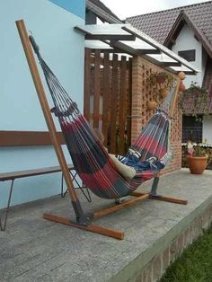 Add Style to Your Pergola Best Hammock With Stand, Wooden Hammock Stand, Diy Outdoor Furniture, Metal Furniture, Outdoor Decor, Diy Bedroom Decor, Diy Home Decor, Backyard Hammock, Hammocks