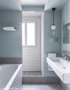décoration appartement noir et blanc : découvrez un appart' d'architectes 100% noir et blanc...