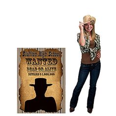Wanted Poster Personalized Standee $20