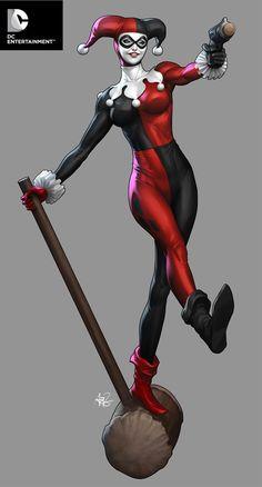DC Cover Girls - Harley Quinn by Artgerm.deviantart.com on @deviantART