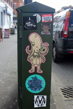 I love sticker art. One of my favourite styles of street art.