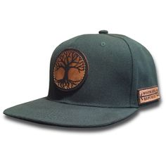 The Rooted. Unique Handmade Leather Patch Design. Comfortable fit Outdoor Inspired Style Adjustable Snapback - one size fits most (adult sizes) JOIN THE REPUBLIC, WEAR WESTWARD.
