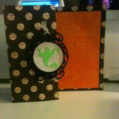 Handmade Halloween card - cricut Happy Hauntings cartridge