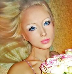 So she's kind of terrifying AND pretty. She does look a lot like a Barbie, and her bodily proportions seem dangerous, but her face is lovely.