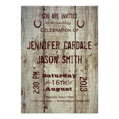 85 Best Rustic Country Western Wedding Invitations Images Wedding