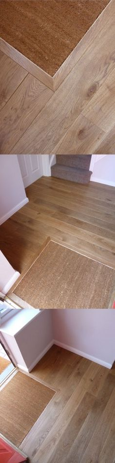 Oak flooring in the Hall, coir matting, sunken mat well | Fine Oak Flooring