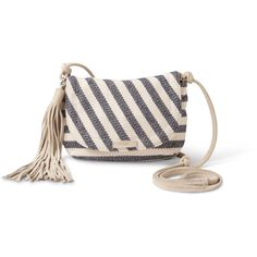 Navy Riviera Stripe Mix Venice Crossbody ($68) ❤ liked on Polyvore featuring bags, handbags, shoulder bags, striped handbag, striped purse, navy blue purse, crossbody shoulder bags and pink cross body purse