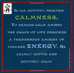 mindfulness. calmness.