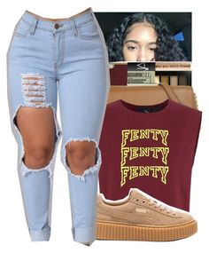 """fenty"" by bbynisa ❤ liked on Polyvore featuring Puma"