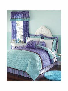 new seventeen venus 2pc twin comforter set $160 pink purple