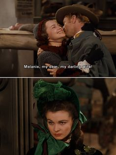 Gone With the Wind - Melanie, Ashley and Scarlett love triangle: Ashley home from the war on Christmas leave.