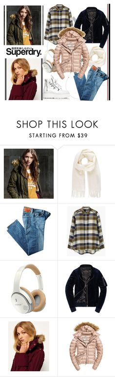 """""""The Cover Up – Jackets by Superdry: Contest Entry"""" by nahed-samir ❤ liked on Polyvore featuring Superdry, Vivienne Westwood, AG Adriano Goldschmied, MANGO, Bose, Fuji, Puma, outfit, polyvoreeditorial and polyvorefashion"""