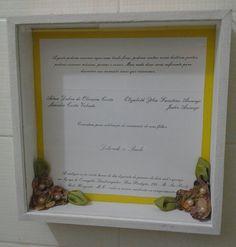 convite de casamento de uma noiva cliente da Ediane Noivas