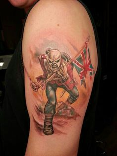 Adore this tattoo 1because its iron Maiden and 2because it got my flag on it