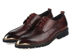 Shoes - Brown Steel head genuine leather business oxford shoes @shoesofexception #trendy #stylish #oxfordshoes