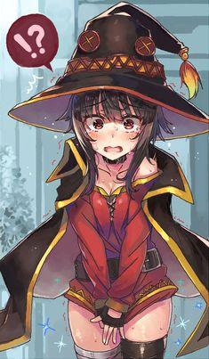 Stop the bulli - Megumin Cool Anime Girl, Cute Anime Pics, Kawaii Anime Girl, Anime Art Girl, Manga Girl, Anime Love, Anime Girls, Konosuba Anime, Chica Anime Manga