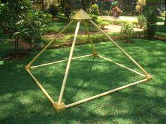 Wooden Six feet Meditation Pyramid