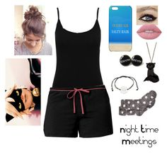 """""""Night Time Meetings"""" by nerdgal13 ❤ liked on Polyvore featuring M&Co, Jockey, Charter Club, Tatty Devine and Lime Crime"""