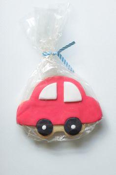 Red car cookies