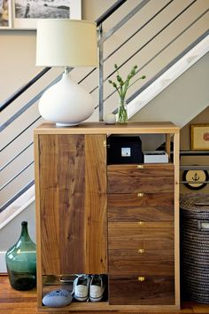 Really interesting dresser. I like the cutouts that act as open drawers.