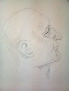 Original Pencil Drawing  Male Head by MagdalenaCharlotte on Etsy, $80.00