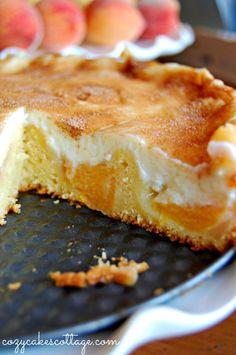 Peaches n' Cream Cobbler Pie (Cut): Cozycakes Cottage