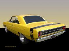 1969 Dodge Dart   1969 Dodge Dart GT Wallpaper - Yellow Sport Coupe   1024_03