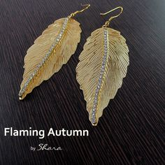 www.facebook.com/sharajewelry      Sunkissed autumn golden leaves to enhance the beauty and the grace of every occasion and attire. Get ready to be flooded with compliments. Buy it or gift it for this coming festive and wedding season or every celebration of your life.