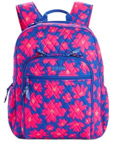 Get set for the best school year ever with Vera Bradleys punchy-hued backpack crafted in lightweight signature quilted cotton. Rucksack Bag, Backpack Bags, Backpack Online, Backpack Craft, Signature Quilts, Cute Backpacks, School Backpacks, Quilted Bag, Vera Bradley Backpack