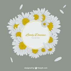 Lovely daisies label