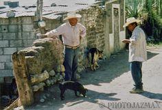 Men and Dogs, Bustamante, Tamaulipas, Mexico