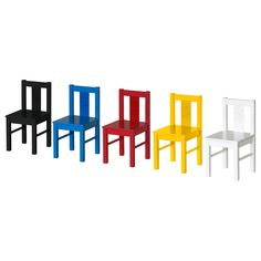 KRITTER Children's chair - black - IKEA - Play therapy room