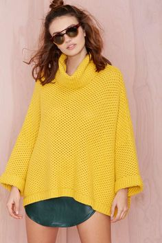 Nasty Gal You're Getting Warmer Sweater - Mustard | Shop Sweaters at Nasty Gal