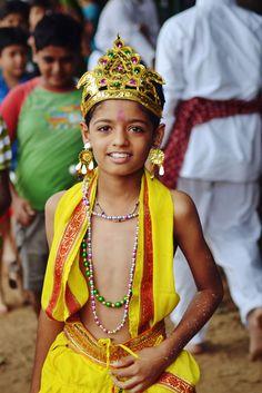 Lord Krishna. (by The Crane Dance) • tribal children • inspired by krsna