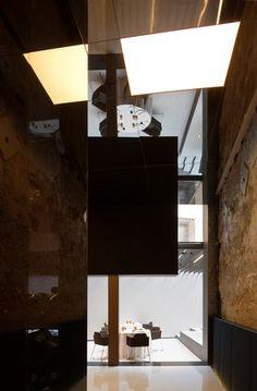 Restaurant Arrop at  Hotel Palacio Marqués de Caro, Valencia. designed by Francesc Rife Studio