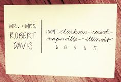 Handlettered Custom Addressed Envelope by 16thAveLettering on Etsy