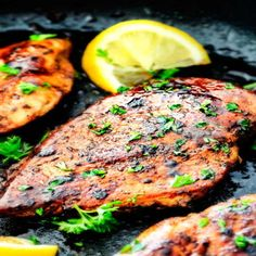 Incredibly juicy, tender, flavor exploding Greek Chicken made with an EASY marinade will become one of your favorite go-to chicken recipes! Chicken Marinade Recipes, Chicken Marinades, Salmon Recipes, Carlsbad Cravings, Cooking Recipes, Healthy Recipes, Grilling Recipes, Pasta Recipes, Greek Recipes