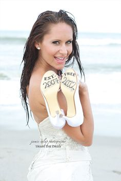 Dates on the shoes: Years of marriage and year of divorce. Love it. Such a fun photo shoot.