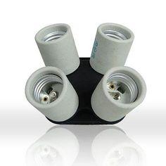 LimoStudio 4 Socket Adapter 4 in 1 Adapter Holder E27 Bulb Lamp Light Socket Spl - http://cameras.goshoppins.com/lighting-studio/limostudio-4-socket-adapter-4-in-1-adapter-holder-e27-bulb-lamp-light-socket-spl/