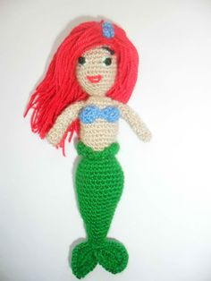 Hey, I found this really awesome Etsy listing at https://www.etsy.com/listing/168674248/ariel-toy-crochet-doll-from-the-little