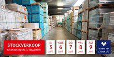 Stockverkoop keramische tegels & natuursteen -- Bornem -- 05/06-09/06