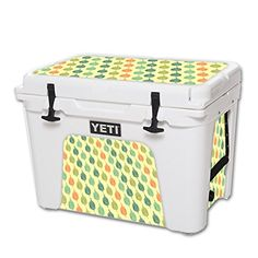 MightySkins Protective Vinyl Skin Decal for YETI Tundra 50 qt Cooler wrap cover sticker skins Maze Leaves ** More details can be found by clicking on the image. #CoolersandAccessories