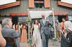 The Sparrows Lodge Palm Springs wedding. Agave Chuppah with a hemp and ivory organza top.